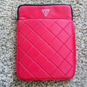 Brand New Guess Factory Quilted Laptop Case
